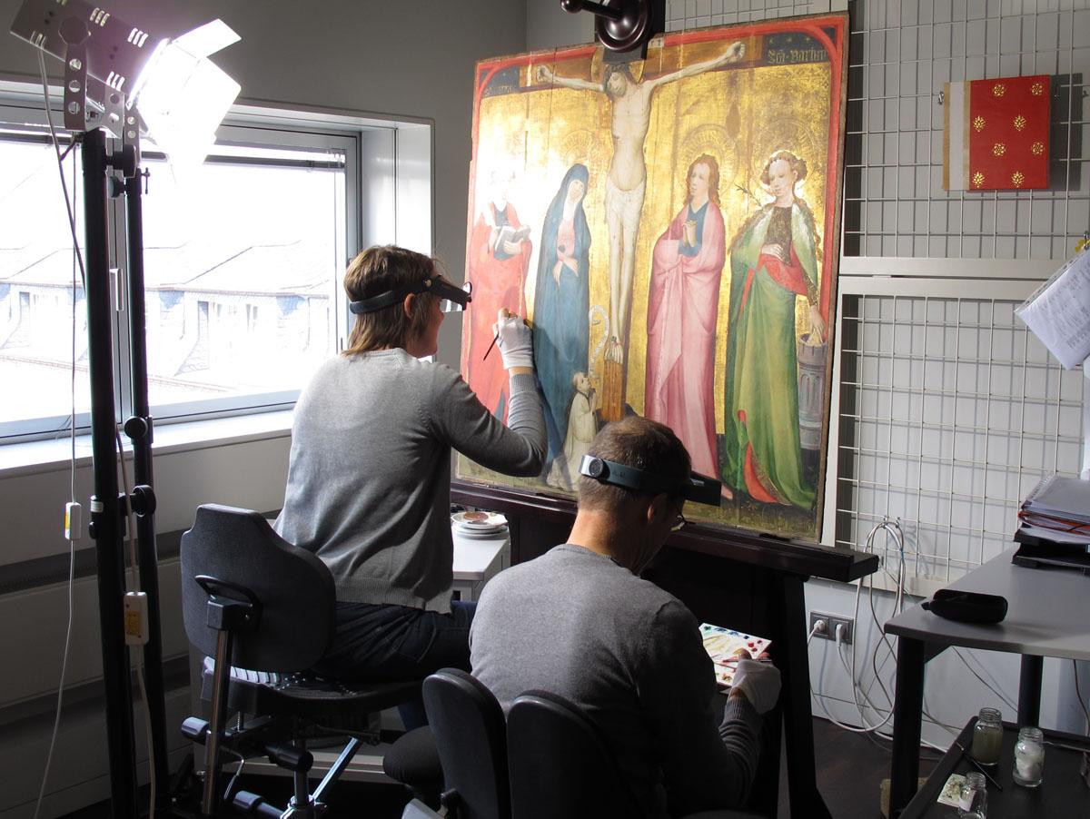 Restaurierung Köln exponate wallraf richartz museum